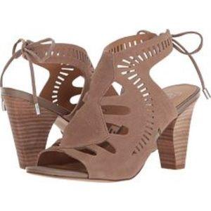 Franco Sarto Carolina Peep toe lace up Sandal